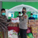 Polres Tanggamus Bersama Dinkes Gelar Vaksinasi Merdeka Serta Berikan Bansos di Ponpes Bahrul Ulum Sumberejo