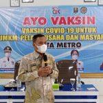 1.150 Warga Metro Tervaksinasi di 4 Titik Taja OJK Lampung Bareng Kadin & APINDO